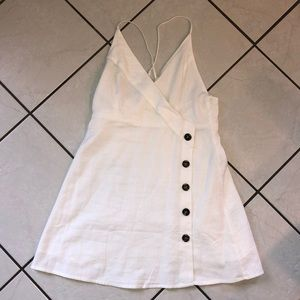 lovely girl collection - white button down dress